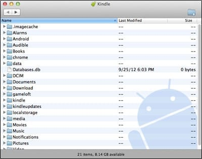 The Kindle file system